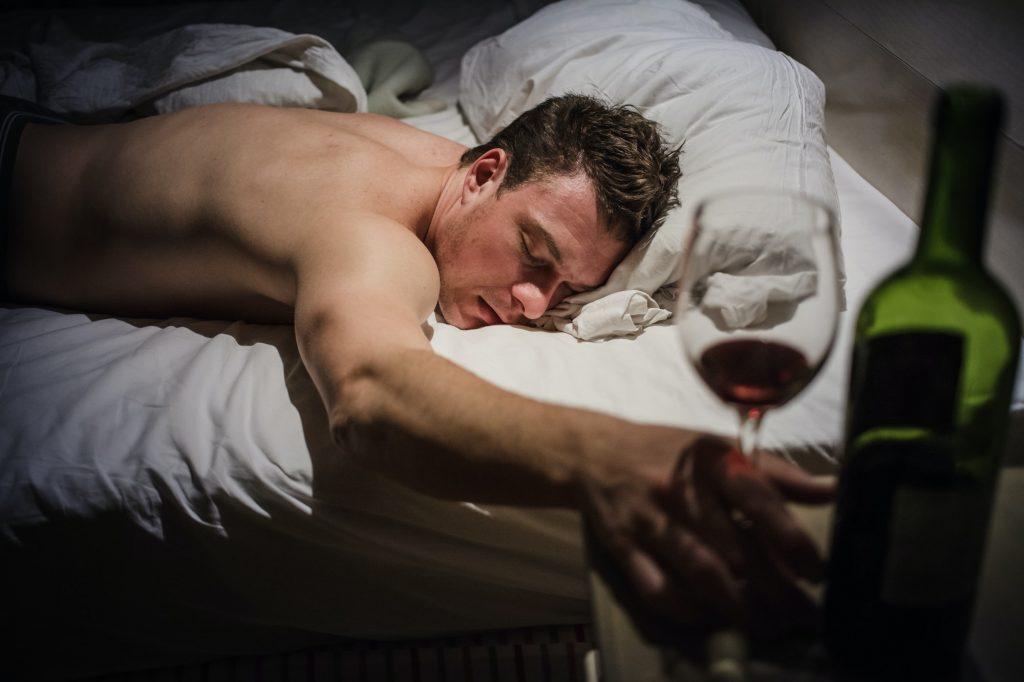 Lonely Drunk Man Sleeping
